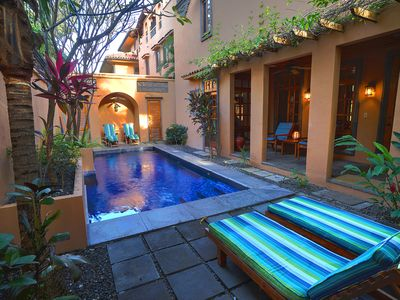 Photo for Luxury 3 br/3.5b villa, Private pool, 1 block to ocean, , near Tamarindo, Wifi