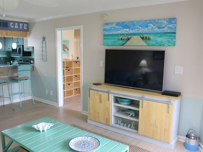 Photo for Bright and Fun Beach Themed Condo - On Little Sabine Bay