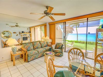 Photo for KUL403 - W Maui 1st Floor, Beach Front, Epic Oceanview Condo in Quiet Resort—1 BR/1BA
