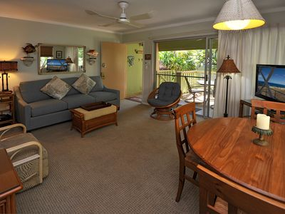 Photo for Tropical Garden View at a Beach Front Property-Kihei Kai Unit 21