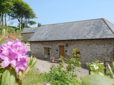 Photo for Authentic stone cottage in green, hilly Devon