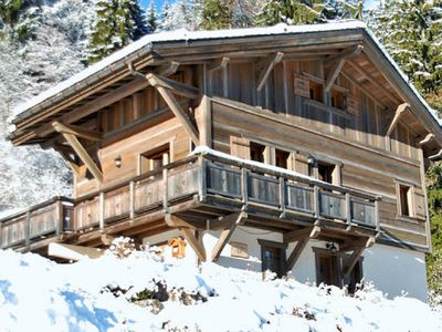 Photo for Luxurious, spacious family chalet with great views, next to the piste.