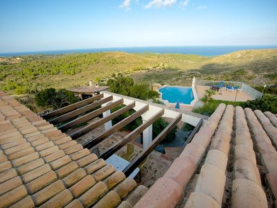 Photo for This 3-bedroom villa for up to 6 guests is located in Cala Torta and has a private swimming pool and