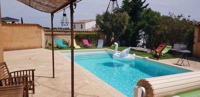 Photo for Air-conditioned independent studio - swimming pool - private parking