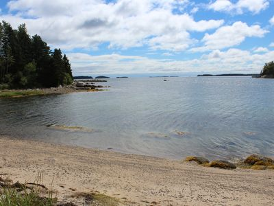 Photo for SANDY COVE COTTAGE / CHESTER / oceanfront / private beach and wharf / kayak