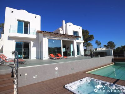 Photo for Modern Villa Ibiza with A/C, Private Pool and Hut Tub in peaceful location.