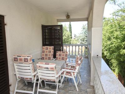 Photo for Two bedroom apartment with terrace Malinska, Krk (A-5456-b)