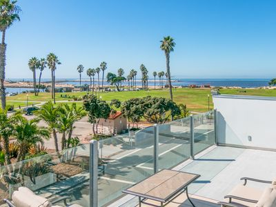 Photo for Family-Friendly 3BR w/ Oceanview Rooftop Deck – Beach Across the Street