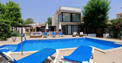Photo for VILLA FACING THE BEACH WITH SWIMMING POOL AND LARGE GARDEN IDEAL FAMILIES