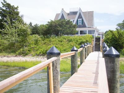 Photo for Enjoy the boats as they go by from this grand and classic Cape Cod summer house