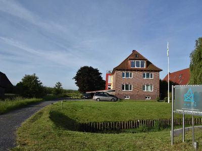 Photo for Thatched Apartment 1 - Alter Obsthof am Elbdeich - Holidays under the thatched roof