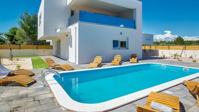 Photo for Stylish villa 200m from the sea in Vodice