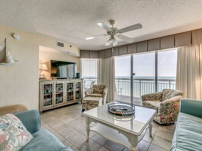 Photo for Crescent Shores 1407, 3 Bedroom Beachfront Condo, Hot Tub and Free Wi-Fi!
