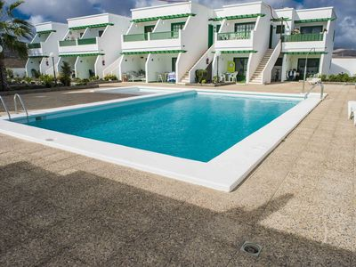 Photo for Pocillos beach with communal pool 3 people