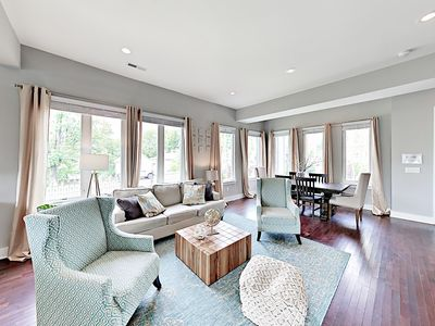 Living Room - Relax amid brand-new furnishings and a simple yet sophisticated aesthetic.