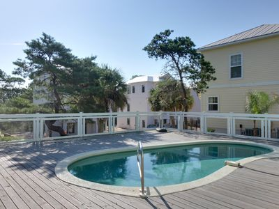 Photo for Gulf View home, w/ private pool & soaking tub - snowbirds welcome!