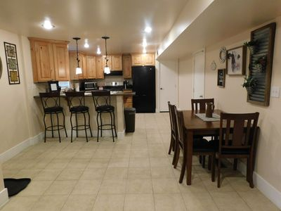 Photo for 2 bedroom apartment separate entrance. close to BYU, MTC and Provo temple.