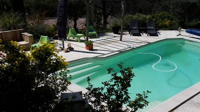 Photo for Apartment / studio, 2/3 people with pool between Aix and Marseille, quiet
