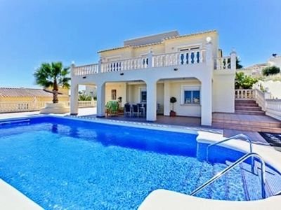Photo for Sublime independent villa for 12 with private pool, beautiful views.