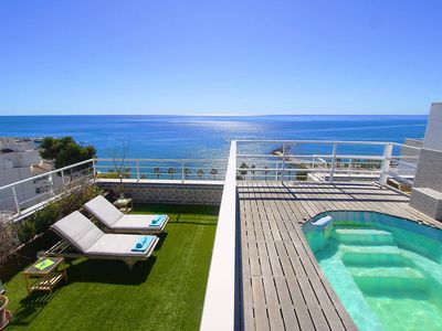 Photo for 1149 Unique beachfront Penthouse 400m2 Marbella Center