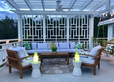 You Won't Find A Better Furnished Outdoor Living Area & We Have Over 1,000 sq ft