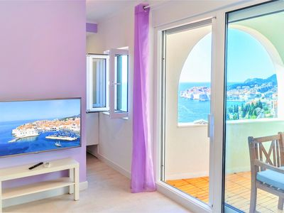 Photo for Amazing Old town & Sea view from private balcony of beautiful apartment