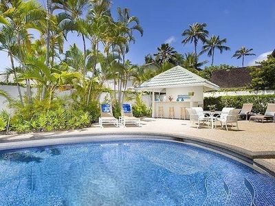 Photo for 6 bedroom 4 bath house with a pool, one block to the ocean.