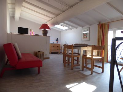 Photo for Very nice studio in the heart of a wine village near the Mediterranean.
