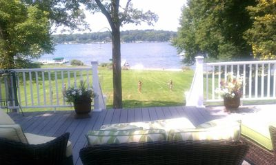 The best place to be on a beautiful summer day! Huge deck with plenty of seating
