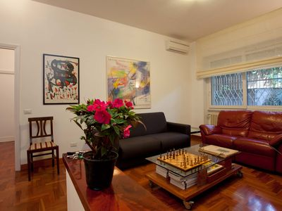 Photo for Three metro stops away from the Colosseum, quiet 85 sqm + outdoor space
