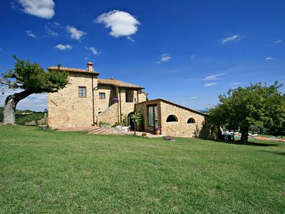 Photo for Stunning Tuscan private villa pool & panoramic views surrounded by olive groves