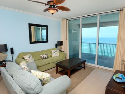 Photo for Attractive condo w/ stunning view, beach access & furnished balcony!