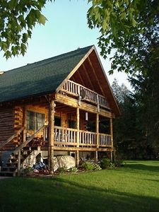 Photo for Charming Adirondack Log Cabin with Great Waterfront and Scenic Views