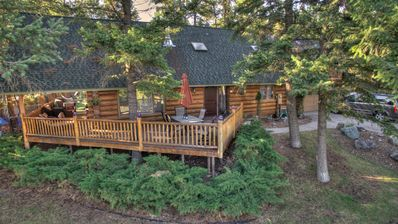 Photo for Majestic Log Cabin with Waterfront View - great location to enjoy Montana