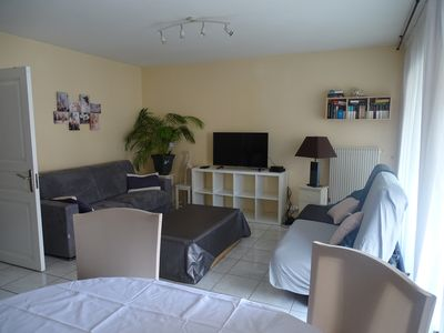 Photo for Large bright studio quiet 8 minutes walk from the beaches and the Croisette
