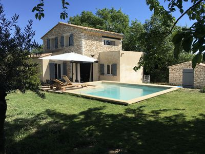 Photo for Villa du murier 9 people / swimming pool / garden 800m² / stone house