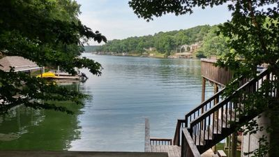 Photo for Waterfront home on Smith Mountain Lake with dock with party deck sleeps 16