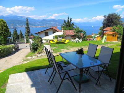 Photo for Africa apartment over Stresa with lake view