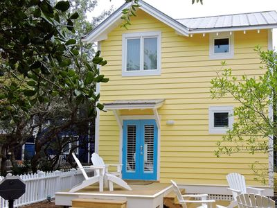 Photo for Larger 1 BR New Guest Cottage, King Master in Seaside. 7 Houses to Beach.