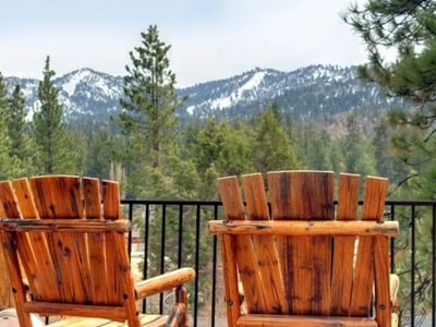 Photo for Rare Bear Luxury Cabin near ski slopes /town with beautiful ski slope views