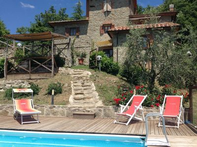 Photo for Beautiful private villa with private pool, WIFI, TV, terrace, washing machine, pets allowed, parking