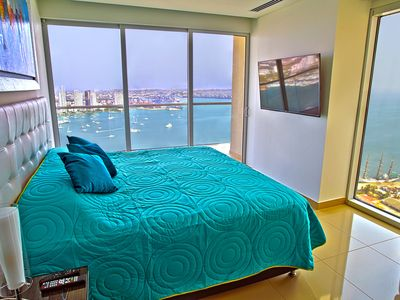 Photo for ★Hyatt H2 Penthouse★★ 2 BR Corner Apt★Infinity Pool★ Best address in Cartagena