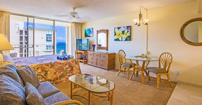 Photo for SALE!  AMAZING Ocean View Studio Free Wi-Fi, Parking AC Private Lanai RK1019