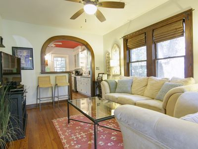 Living Room - Beautiful craftsman style home with character everywhere you look. Here's a view of the living room from the front door as you enter.