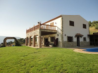 Photo for 4 bedroom Villa, sleeps 8 in El Gastor with Pool and WiFi