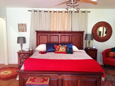 King Sized Bed with Luxury Bamboo Linens