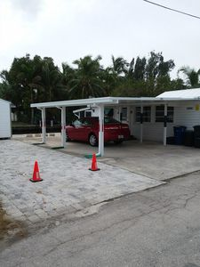 double wide parking space.  room for your boat trailer