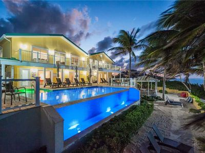 Photo for Fischer's Reef: Spacious, Luxury Beach Villa w/ Heated Infinity Pool & Amazing Snorkeling