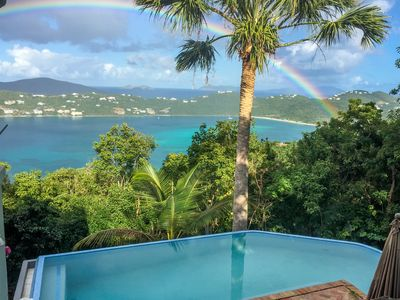 Photo for Stunning view high above Megans Bay with infinity pool & 2 master bedrooms!