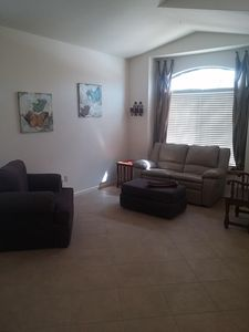Front Room with reclining sofa and large chair